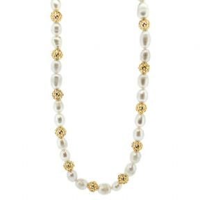 Outlander Inspired Gold Plated Necklace with Pearls 9835